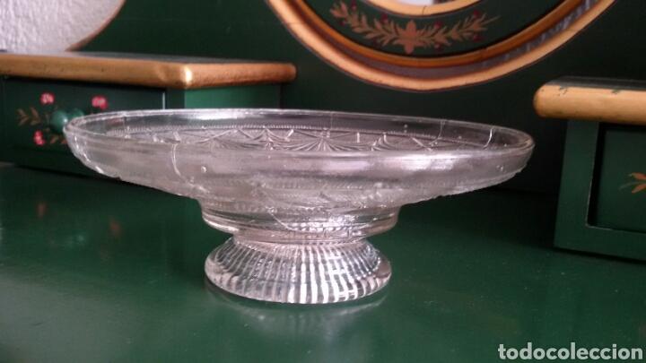 Vintage: Centro de mesa / frutero de cristal tallado. Años 80. - Foto 2 - 117605431