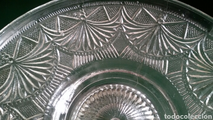 Vintage: Centro de mesa / frutero de cristal tallado. Años 80. - Foto 4 - 117605431