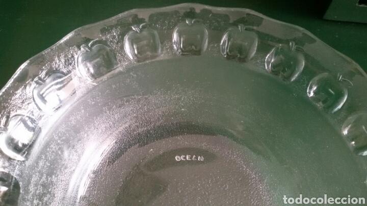 Vintage: Elegante bol de cristal de Ocean. Detalle tallado en el borde. Años 80. - Foto 3 - 117606191