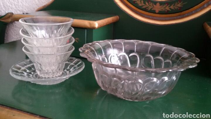 Vintage: Conjunto para postre en cristal tallado. Años 80. 8 Piezas. - Foto 2 - 117611378