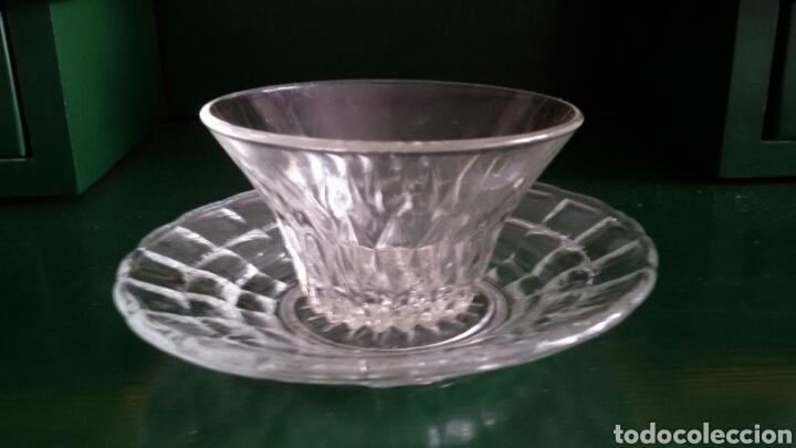 Vintage: Conjunto para postre en cristal tallado. Años 80. 8 Piezas. - Foto 5 - 117611378