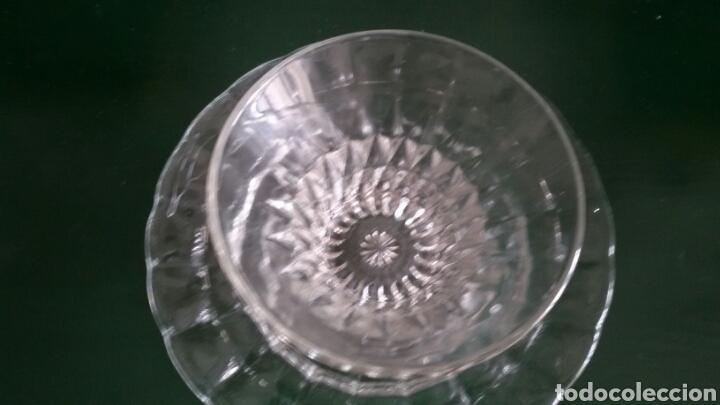 Vintage: Conjunto para postre en cristal tallado. Años 80. 8 Piezas. - Foto 6 - 117611378