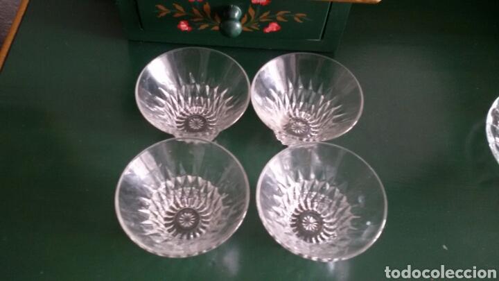 Vintage: Conjunto para postre en cristal tallado. Años 80. 8 Piezas. - Foto 7 - 117611378