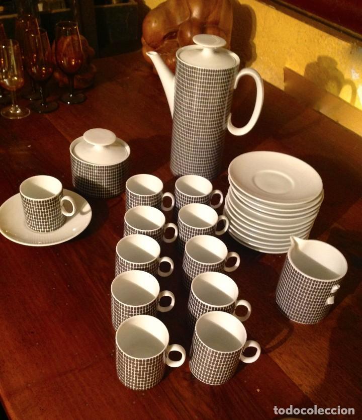 JUEGO DE CAFÉ TÉ DE PORCELANA ALEMANA (Vintage - Decoración - Porcelanas y Cerámicas)