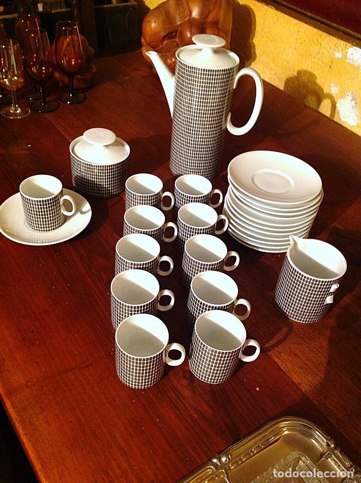 Vintage: Juego De Café Té De Porcelana Alemana - Foto 2 - 117797783