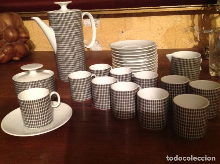 Vintage: Juego De Café Té De Porcelana Alemana - Foto 3 - 117797783