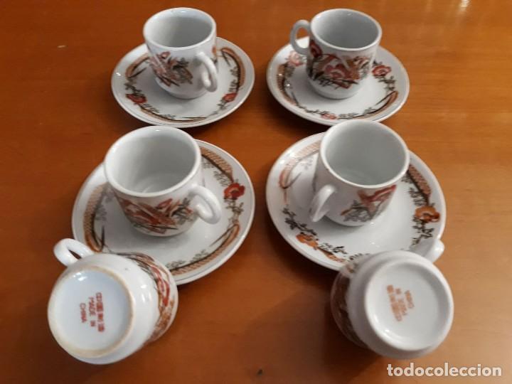 6 TAZAS, 4 PLATOS DE PORCELANA CHINA (Vintage - Decoración - Porcelanas y Cerámicas)