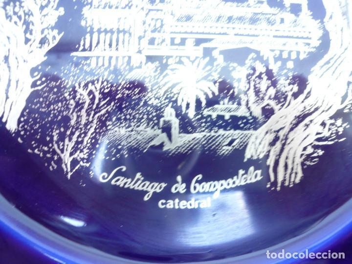 Vintage: PLATO PORCELANA CAPEANS. CATEDRAL DE SANTIAGO COMPOSTELA. AZUL COBALTO Y PLATA - Foto 3 - 118575403