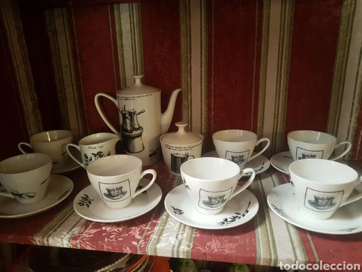 JUEGO CAFÉ PONTESA - NESCAFÉ (Vintage - Decoración - Porcelanas y Cerámicas)