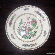 Vintage - PLATO DECORACION FLORAL PORCELANA PONTESA - DIAMETRO 25,5 CM - 119223599