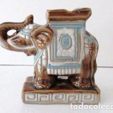 Vintage: ELEFANTE, CENICERO DE CERÁMICA DE LOS AÑOS 80, 13X10 CM. Lote 119393451