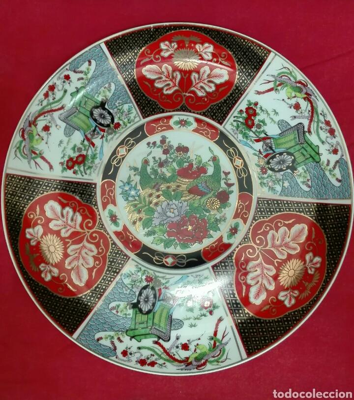 PLATO GRANDE AUTENTICO DE CHINA (Vintage - Decoración - Porcelanas y Cerámicas)