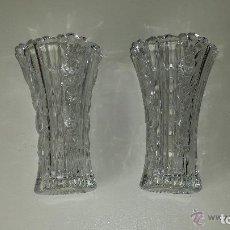Vintage: JARRONES DE CRISTAL TALLADO . Lote 120534371