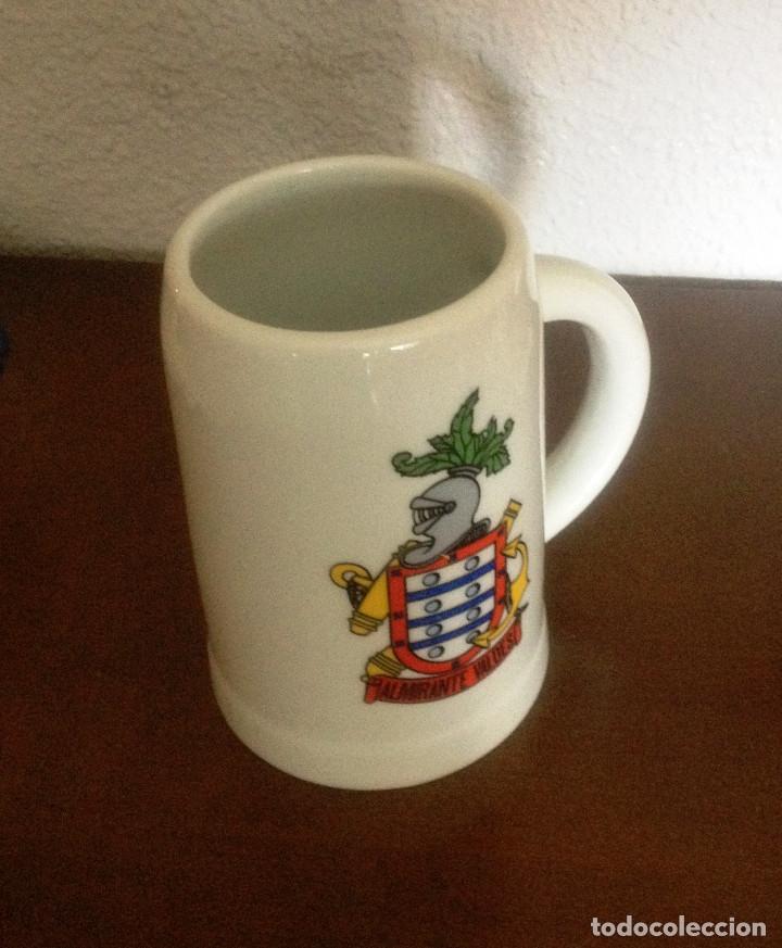 Vintage: Jarra de cerámica con escudo militar Destructor Almirante Valdés - Foto 2 - 89560920