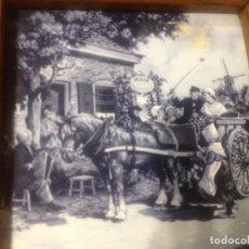 Vintage: AZULEJO CON PAISAJE HOLANDES ENMARCADO . Lote 120978967