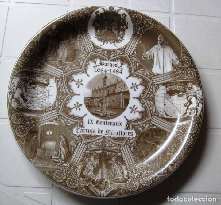PLATO CERÁMICA IX CENTENARIO CARTUJA DE MIRAFLORES- BURGOS- (Vintage - Decoración - Porcelanas y Cerámicas)