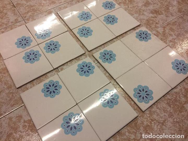 Espectacular Lote De 40 Baldosas Azulejos Vinta Comprar Porcelana - Baldosas-y-azulejos