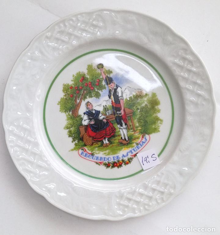PLATO RECUERDO DE ASTURIAS 19´5 CM (Vintage - Decoración - Porcelanas y Cerámicas)