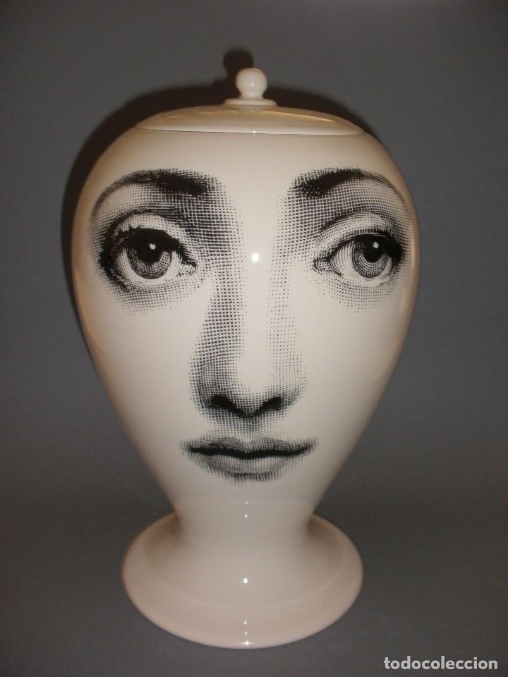 PIERO FORNASETTI MILANO JARRON PORCELANA LINA CAVALIERI 30 CM EDICION LIMITADA NUMERADA 1/299 (Vintage - Decoración - Porcelanas y Cerámicas)