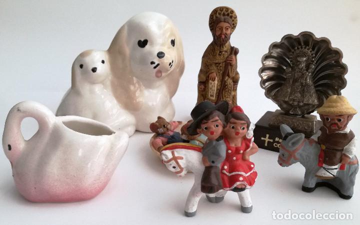 LOTE 7 PEQUEÑOS ADORNOS DE COLECCIÓN (Vintage - Decoración - Porcelanas y Cerámicas)