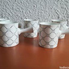 Vintage: 5 TAZAS DE CAFÉ PORCELANA DE O CASTRO - GALICIA VINTAGE TACITAS POCILLO SARGADELOS. Lote 122175447