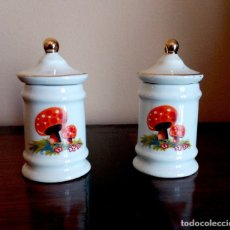 Vintage: PAREJA DE TIBORES DE PORCELANA CHINA.. Lote 122236655