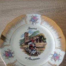 Vintage: PLATO DECORATIVO DE PORCELANA - RECORD D'ANDORRA - CON SELLO EN PARTE POSTERIOR. Lote 122342199