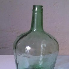 Vintage: BOTELLA DE GARRAFA, CRISTAL VERDE 5 LITROS. Lote 122679831