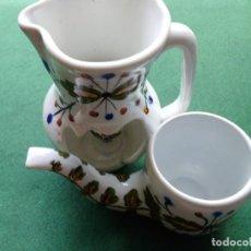 Vintage: LOTE ADORNOS CERAMICA PIPA Y JARRA PORTAVELAS. Lote 122945667