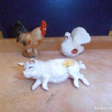 Vintage: LOTE ANIMALES PORCELANA GENUINE BONE CHINA. Lote 124038067