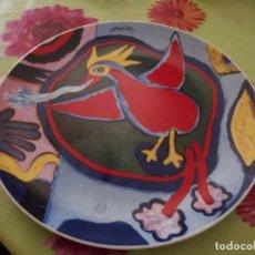 Vintage: PRECIOSO PLATO DE PORCELANA CON PÁJARO, COMEINE. MUY COLORIDO.. Lote 125094399