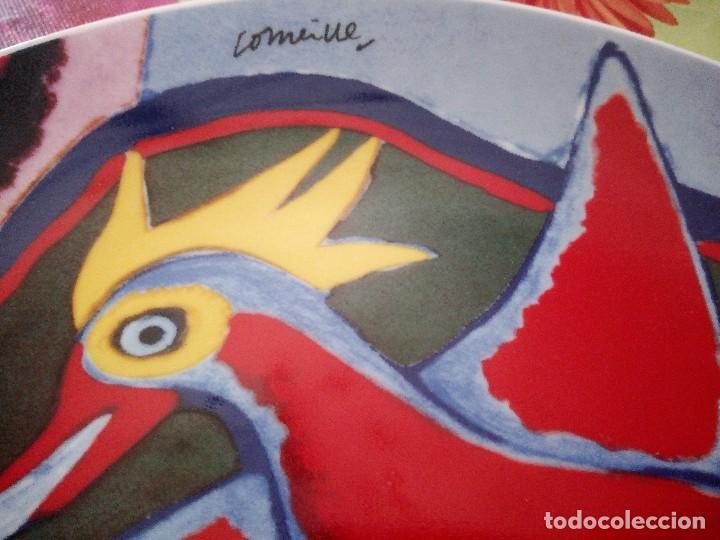 Vintage: Precioso plato de porcelana con pájaro, comeine. muy colorido. - Foto 3 - 125094399