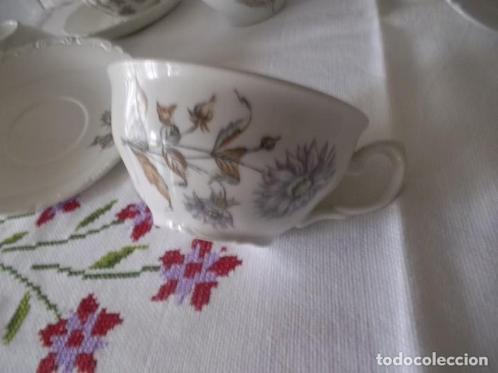 Vintage: JUEGO DE CAFE PORZELANIT-FILO PLATEADO-VINTAGE - Foto 5 - 194706415