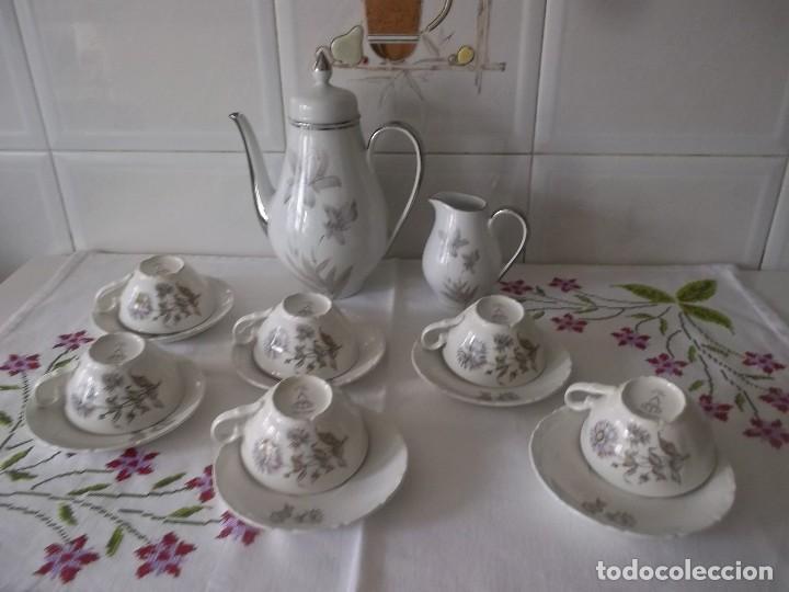 Vintage: JUEGO DE CAFE PORZELANIT-FILO PLATEADO-VINTAGE - Foto 6 - 194706415