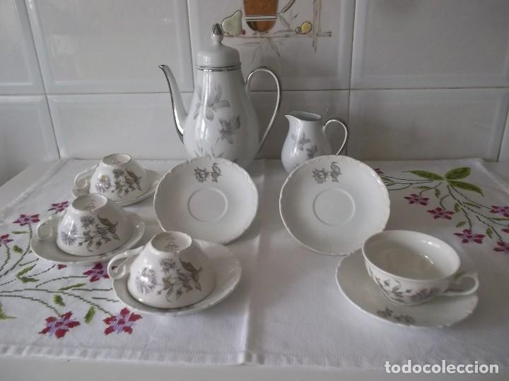 Vintage: JUEGO DE CAFE PORZELANIT-FILO PLATEADO-VINTAGE - Foto 9 - 194706415