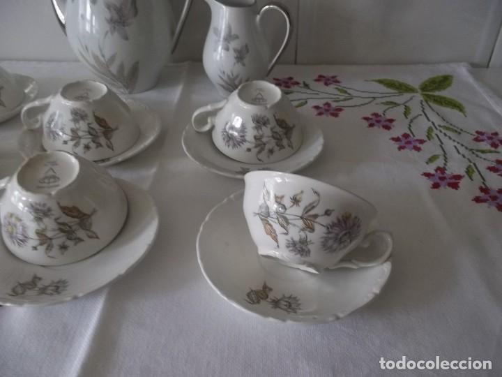 Vintage: JUEGO DE CAFE PORZELANIT-FILO PLATEADO-VINTAGE - Foto 14 - 194706415