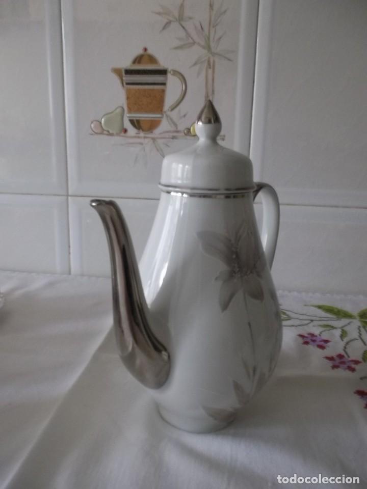 Vintage: JUEGO DE CAFE PORZELANIT-FILO PLATEADO-VINTAGE - Foto 15 - 194706415