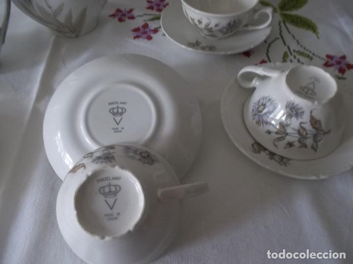 Vintage: JUEGO DE CAFE PORZELANIT-FILO PLATEADO-VINTAGE - Foto 17 - 194706415