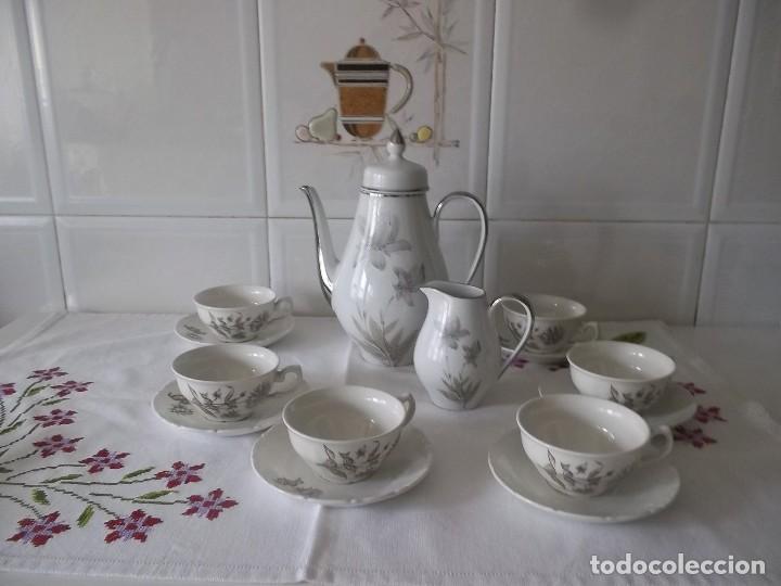Vintage: JUEGO DE CAFE PORZELANIT-FILO PLATEADO-VINTAGE - Foto 20 - 194706415