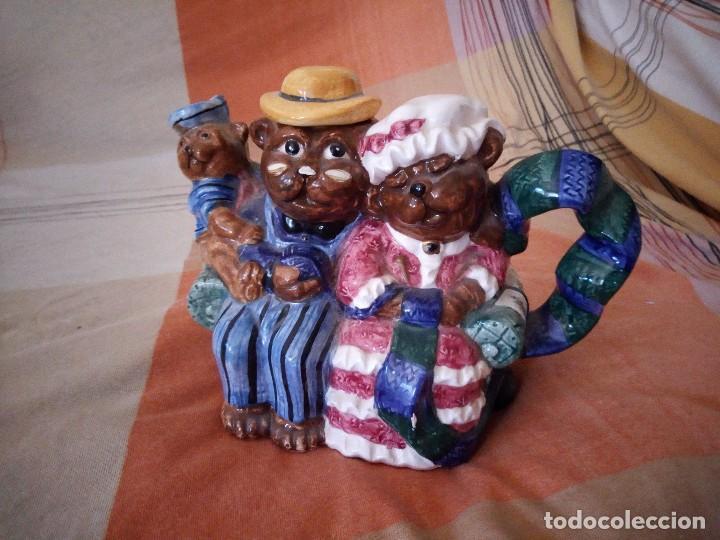 Vintage: Original tetera con familia de osos porcelana express production lombard illinois. - Foto 2 - 125849735