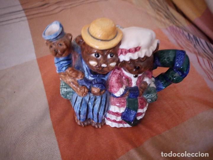 Vintage: Original tetera con familia de osos porcelana express production lombard illinois. - Foto 3 - 125849735