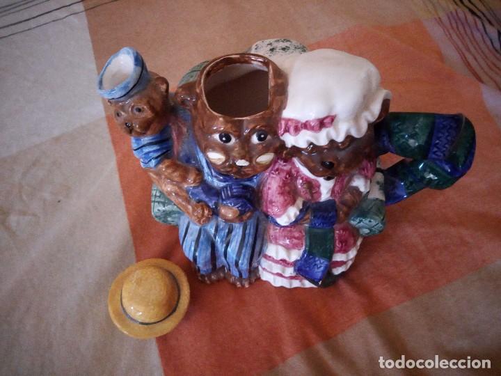 Vintage: Original tetera con familia de osos porcelana express production lombard illinois. - Foto 4 - 125849735