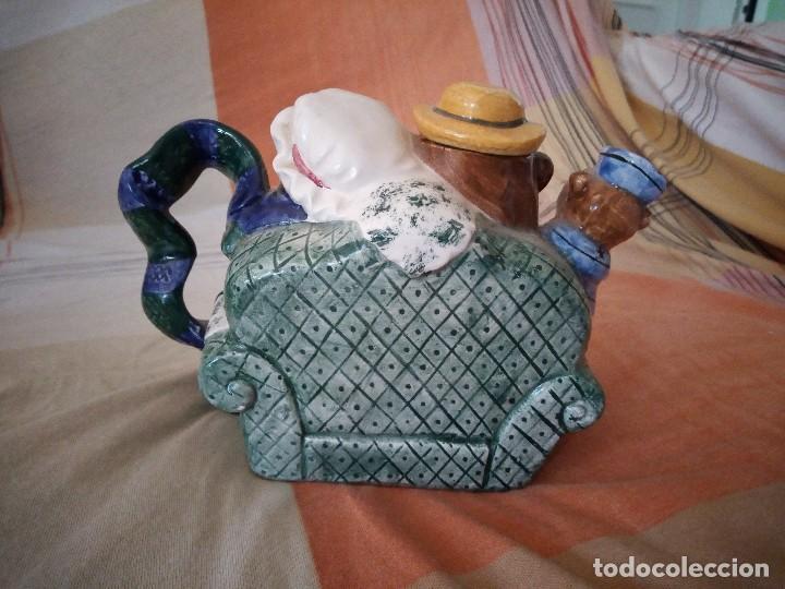 Vintage: Original tetera con familia de osos porcelana express production lombard illinois. - Foto 5 - 125849735