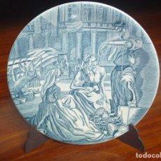 Vintage: PLATO MERCADO EN PLAZA NUEVA VITORIA GASTEIZ ALDEANOS CARLOS SAENZ DE TEJADA ÚNICO EN TODOCOLECCIÓN. Lote 125927247
