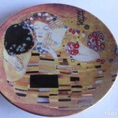 Vintage: PLATO DE COLECCION EL BESO BY GUSTAV KLIMT PORZELLAN AUSTRIA 15 CM. Lote 125934931