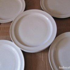 Vintage: LOTE 7 PLATOS TRINCHEROS BLANCOS AÑOS 70. Lote 126474023
