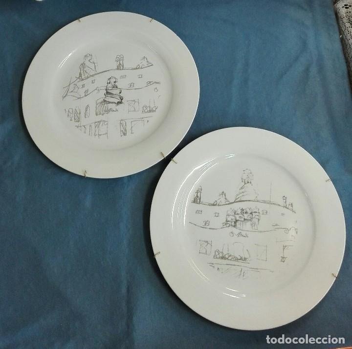 PLATOS PORCELANA DE GAUDÍ (Vintage - Decoración - Porcelanas y Cerámicas)