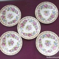 Vintage: 5 PLATOS CHINOS CON SELLO-11 CM. Lote 129189779
