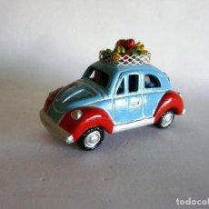 Vintage: COCHE CLÁSICO VOLKSWAGEN ESCARABAJO / VW. BEETLE - DE CERÁMICA - RECUERDO DE COSTA RICA-. Lote 129222863