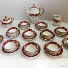 Vintage: JUEGO DE CAFE DE 27 PIEZAS DE PORCELANA PARA 12 SERVICIOS . Lote 129567599